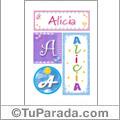 Alicia - Carteles e iniciales