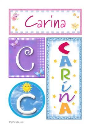 Carina - Carteles e iniciales