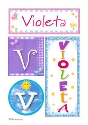 Violeta - Carteles e iniciales