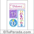 Dolores - Carteles e iniciales