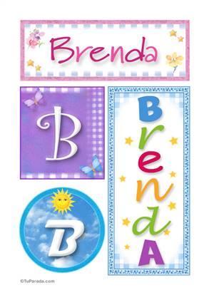 Brenda - Carteles e iniciales