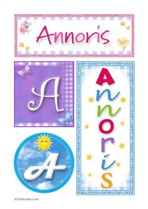 Annoris - Carteles e iniciales
