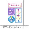 Yaimara - Carteles e iniciales