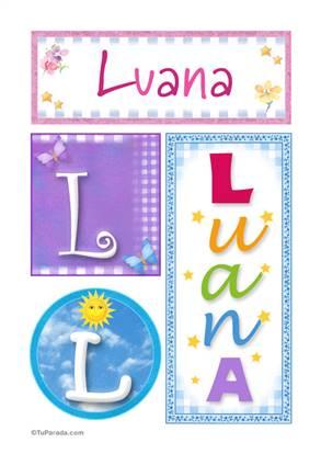Luana - Carteles e iniciales
