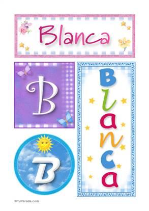 Blanca - Carteles e iniciales