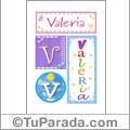 Valeria - Carteles e iniciales
