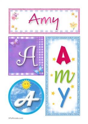 Amy - Carteles e iniciales