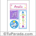 Analia - Carteles e iniciales