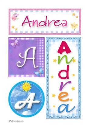 Andrea - Carteles e iniciales