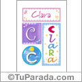 Clara - Carteles e iniciales