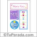 Maria Rosa - Carteles e iniciales