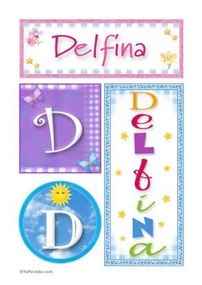 Delfina - Carteles e iniciales