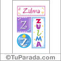 Zulma - Carteles e iniciales