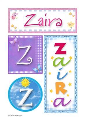 Zaira - Carteles e iniciales