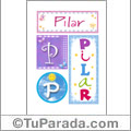 Pilar - Carteles e iniciales