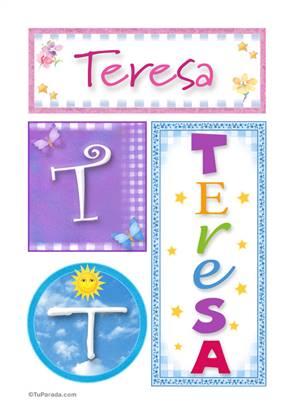 Teresa - Carteles e iniciales