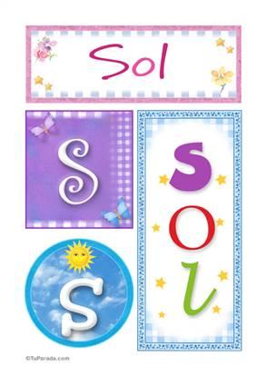 Sol - Carteles e iniciales
