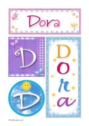 Dora - Carteles e iniciales
