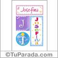 Josefina - Carteles e iniciales