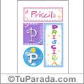 Priscila - Carteles e iniciales