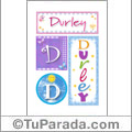 Durley - Carteles e iniciales