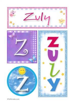 Zuly - Carteles e iniciales