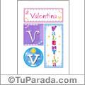 Valentina - Carteles e iniciales