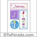Jimena - Carteles e iniciales