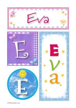 Eva - Carteles e iniciales