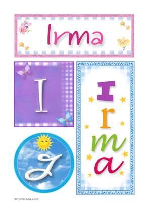 Irma - Carteles e iniciales