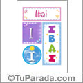 Ibai - Carteles e iniciales