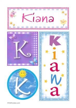 Kiana - Carteles e iniciales