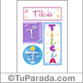 Tilcia - Carteles e iniciales
