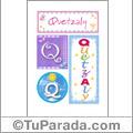 Quetzaly - Carteles e iniciales