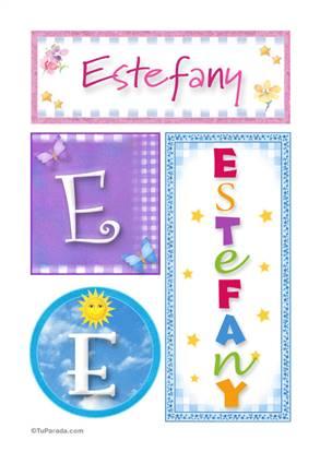 Estefany - Carteles e iniciales