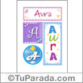 Aura - Carteles e iniciales