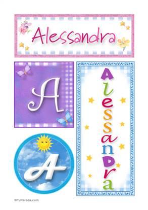 Alessandra - Carteles e iniciales