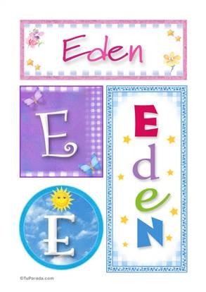Eden - Carteles e iniciales