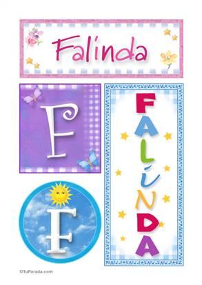 Falinda - Carteles e iniciales
