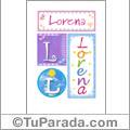 Lorena - Carteles e iniciales