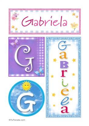 Gabriela - Carteles e iniciales