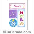 Nora - Carteles e iniciales