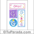 Gisel - Carteles e iniciales
