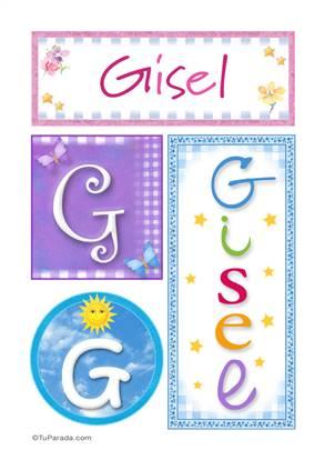 Gisel - Carteles e iniciales