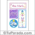 Ana María - Carteles e iniciales