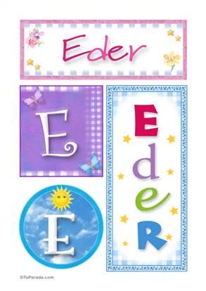 Eder - Carteles e iniciales