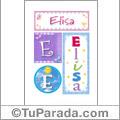 Elisa - Carteles e iniciales