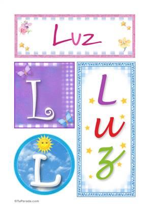 Luz - Carteles e iniciales
