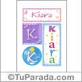 Kiara - Carteles e iniciales