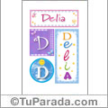 Delia - Carteles e iniciales